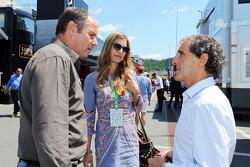 Gerhard Berger et sa compagne Hélène avec Alain Prost