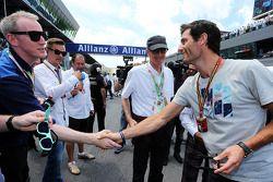 Sir James Dyson, uitvinder, Porsche Team WEC-coureur, op de grid