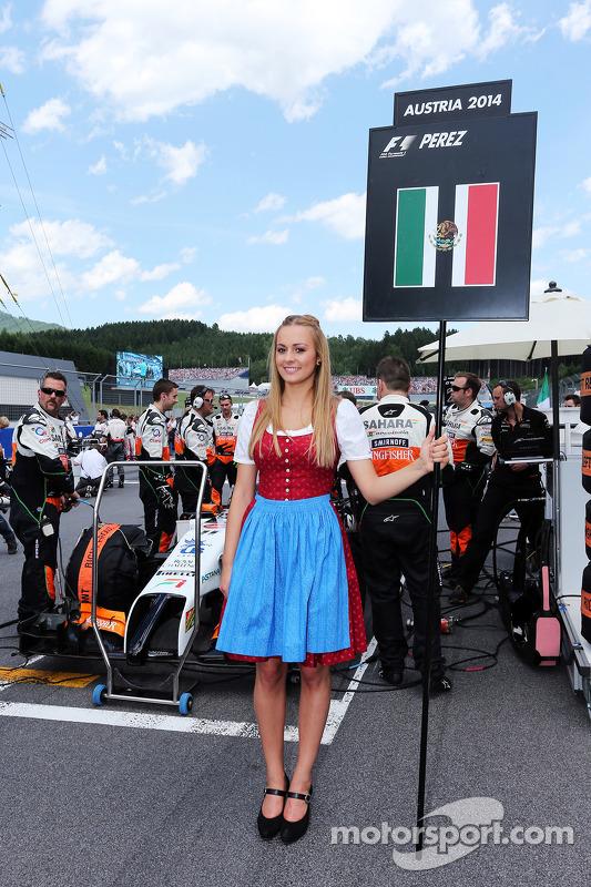 Sergio Perez için grid kızı, Sahara Force India F1 VJM07