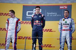 Podium: winner Alex Lynn, second place Emil Bernstorff, third place Jimmy Eriksson