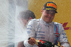 Valtteri Bottas sur le podium