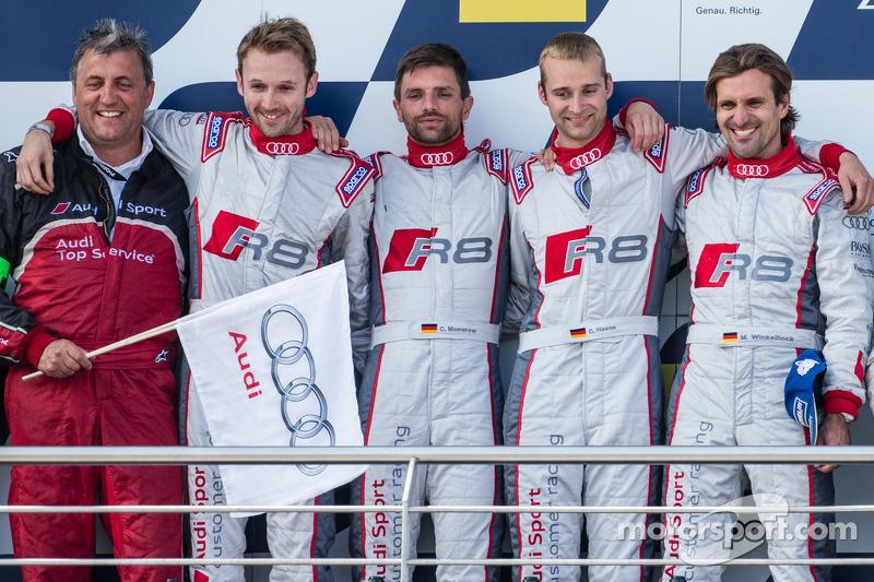 Podium: 1. Christopher Haase, Christian Mamerow, René Rast, Markus Winkelhock