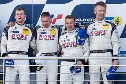 Podium: derde plaats Maro Engel, Nico Bastian, Christian Hohenadel, Michael Zehe
