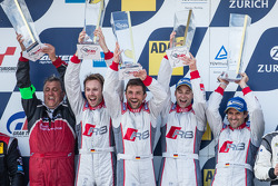 Podium: les vainqueurs Christopher Haase, Christian Mamerow, René Rast, Markus Winkelhock