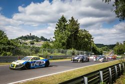 起步: #16 Twin Busch Motorsport 奥迪R8 LMS ultra: Dennis Busch, Marc Busch, Manuel Lauck, Stefan Landman