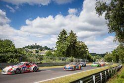 Départ : #12 Manthey-Racing Porsche 997 GT3 R: Otto Klohs, Sebastian Asch, Harald Schlotter, Jens Richter
