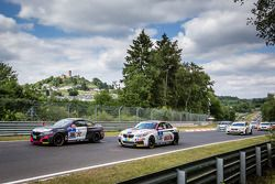 Start: #306 Team Ring Police BMW M235i Racing: Jean-Pierre Kremer, Jan-Erik Slooten and #315 Mathol