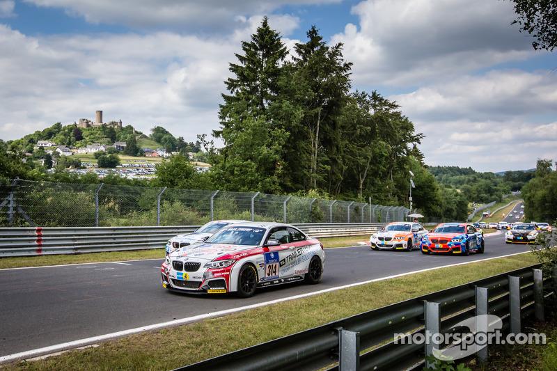 起步: #314 Sorg Rennsport,宝马 M235i Racing: Friedhelm Mihm, Heiko Eichenberg, Thomas Jäger