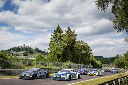 Start: #108 Rotek Racing Audi TT RS: Robert Huff, Robb Holland, Richard Meins, Kevin Gleason and #11