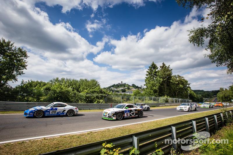 Start: #170 Mathol Racing Porsche Cayman R: Dag Wohlen, Tommy Graberg, Hans Holmund, Scott Marshall