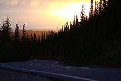 The sun rises above Pikes Peak