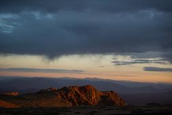 Le soleil se lève à Piked Peak