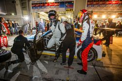 Pit stop for #120 LMS Engineering Audi TT RS: Daniela Schmid, Christopher Tiger, Roland Botor, Const