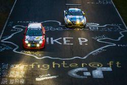 #150 Roadrunner Racing Renault Clio Cup: Lutz Rühl, Thomas D. Hetzer, Boris Hrubesch, Jürgen Peter ; #120 LMS Engineering Audi TT RS: Daniela Schmid, Christopher Tiger, Roland Botor, Constantin Kletzer