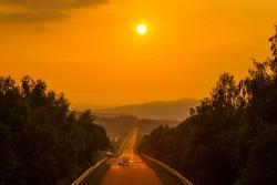 Lever du soleil à Döttinger Höhe