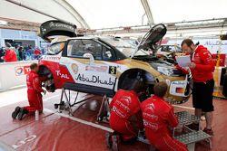 Kris Meeke et Paul Nagle, Citroën DS3 WRC, Citroën Total Abu Dhabi World Rally Team