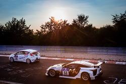 #132 Lanza Motorsport Ford Fiesta ST: Simona Barin, Roberto Barin, Mauro Simoncini, #53 Gazoo Racing Lexus LFA Code X: Akira Iida, Juichi Wakisaka, Takuto Iguchi, Hiroaki Ishiura