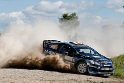 Elfyn Evans aetnd Daniel Barrit, M-Sport Ford Fiesta WRC