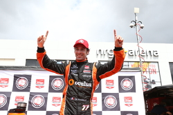 Simon Pagenaud celebrates pole for race one