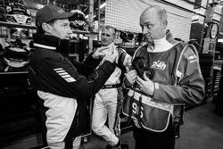 Thomas Jäger et Richard Göransson avec Hans-Peter Naundorf