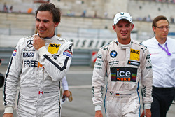Robert Wickens, Mercedes AMG DTM-Team HWA DTM Mercedes AMG C-Coupé and Marco Wittmann, BMW Team RMG