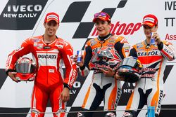 Race winner Marc Marquez, second place Andrea Dovizioso, third place Dani Pedrosa