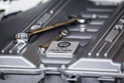 #1 Black Falcon Mercedes-Benz SLS AMG GT3 motor detail