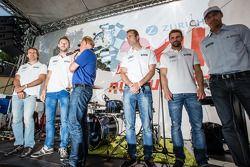 Markus Winkelhock, René Rast, Christopher Haase en Christian Mamerow