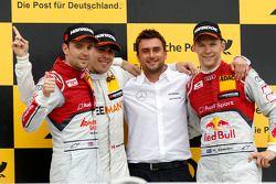 Podium, 2. Jamie Green, Audi Sport Team Abt Sportsline, Audi RS 5 DTM, 1. Robert Wickens, Mercedes A