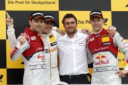 Podium, 2nd Jamie Green, Audi Sport Team Abt Sportsline Audi RS 5 DTM, 1st Robert Wickens, Mercedes AMG DTM-Team HWA DTM Mercedes AMG C-Coupé