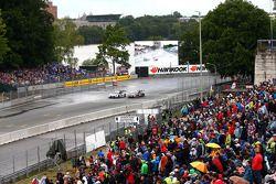 Maxime Martin, RMG BMW M4 DTM del equipo BMW y Mattias Ekstrom, Abt Sportsline, Audi A5 DTM del Audi