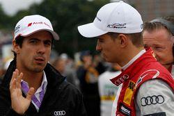 Lucas di Grassi, del Audi Sport Team Joest y Nico Muller, del Audi Sport Team Rosberg Audi RS 5 DTM.