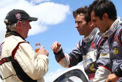 Jeff Zwart, Romain Dumas y Vincent Beltoise talk on the summit