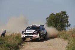 Ott Tanak et Molder Raigo, Ford Fiesta WRC