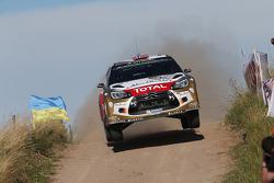Mads Ostberg et Jonas Andersson, Citroën DS3 WRC, Citroën Total Abu Dhabi World Rally Team