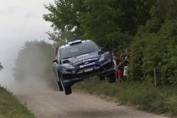 Mikko Hirvonen et Jarmo Lehtinen, M-Sport Ford Fiesta WRC