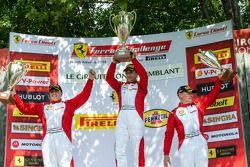 TP podium: race winner Ricardo Perez, second place Emmanuel Anassis, third place Ryan Ockey