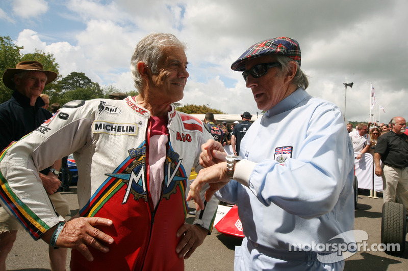 Giacomo Agostini ve Jackie Stewart