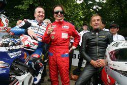 Freddie Spencer, Emerson Fittipaldi and Stuart Graham