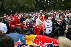 Lewis Hamilton, Sebastien Buemi and Pedro de la Rosa