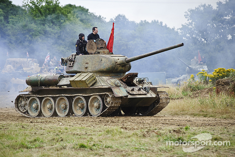 Tank driving at Silverstone