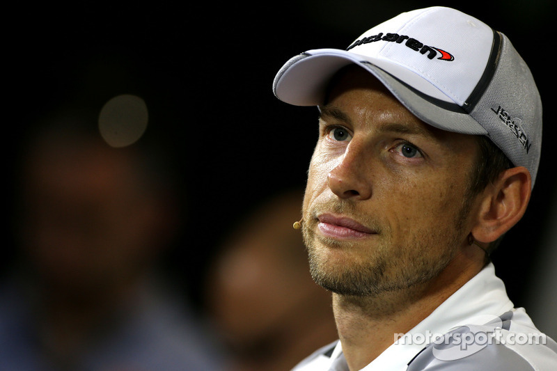 Jenson Button, McLaren F1 Team durante la conferenza stampa