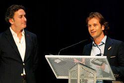 Jarno Trulli en Alejandro Agag, CEO Formule E