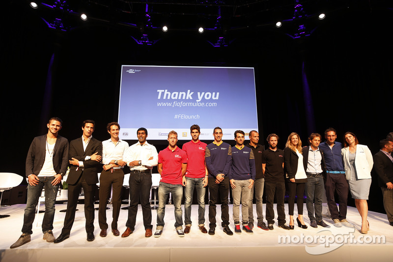 Drivers on stage