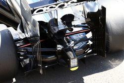 McLaren MP4-29 arka kanat ve arka difüzör detayı