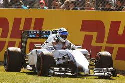 苏茜·沃尔夫, 威廉姆斯FW36赛车研发车手,第一次自由练习时停在赛道上