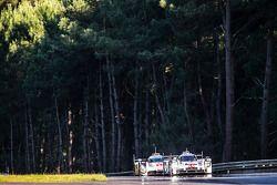 #14 Porsche Team Porsche 919 Hybrid: Romain Dumas, Neel Jani, Marc Lieb, #1 Audi Sport Team Joest Au