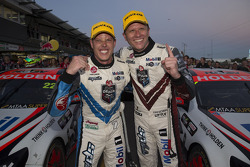 Race winner Garth Tander, second place James Courtney