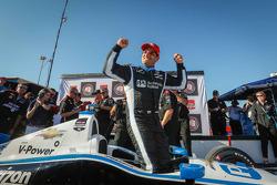 Juan Pablo Motoyta célèbre sa pole position