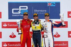 Podium: race winner Felipe Nasr, second place Stefano Coletti, third place Johnny Cecotto